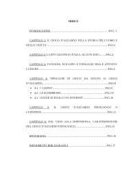 indice tesina sociologia generale sul gioco d'azzardo