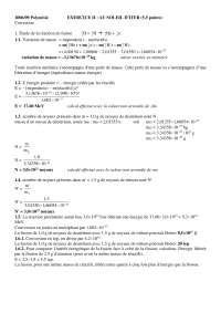 Physique – exercitation sur la question du soleil d'iter - correction, Examens de Physique Numérique