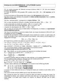 Exercices de physique des particules sur le plutanium - correction