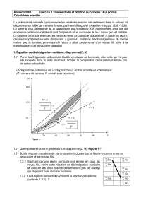 Exercices de physique des particules sur la radioactivité