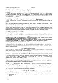 appunti di storia del diritto romano statale di Milano