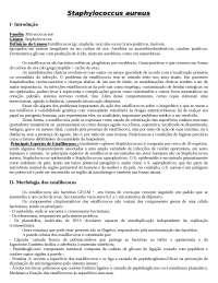Staphylococcus aureus - Apostila Bactereologia