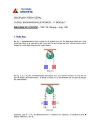 Maquina de Atwood, Notas de estudo de Engenharia de Produção