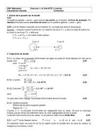 Exercitations de physique des dispositifs sur la galiote - correction