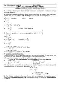 Exercices sur les concepts de physique 15 - correction