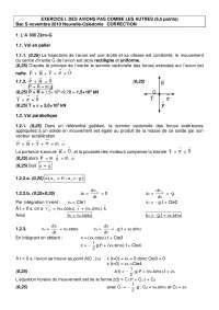 Exercices sur les concepts de physique 14 - correction