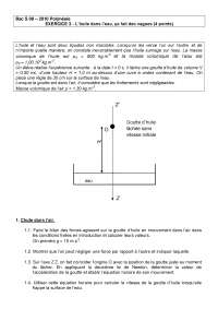 Exercices sur les concepts de physique 13