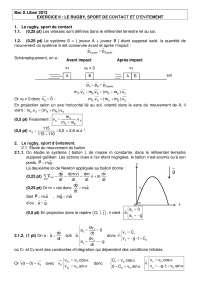 Exercitations de physique avancée 10 - correction