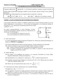 Contrôle de physique mathématiques 3