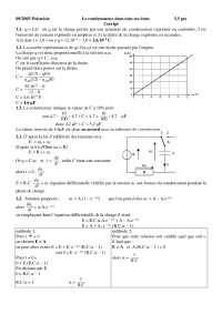 Exercices de physique mathématiques 1 - correction