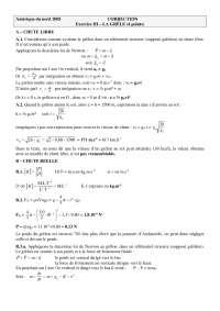 Exercitations de physique mathématiques 1 - correction