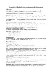 Exercices de mathématique 13 - Etude d'une transformation du plan complexe