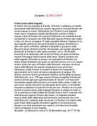 Analisi Le Baccanti di Euripide