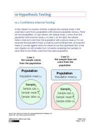 Hypothesis Testing - Business Statistics - Handout