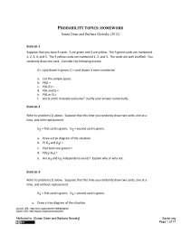 Probability - Business Statistics - Homework