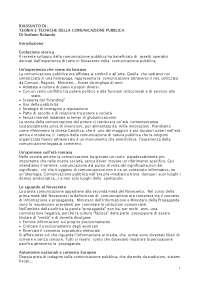 Teorie e tecniche della comunicazione pubblica - Rolando