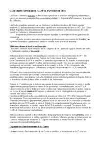 Cortes: Congreso y Senado. Manuel Sanchez de Dios SISTEMA POLITICO ESPAÑOL