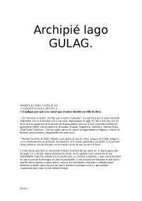 Trabajo archipielago Gulag Universidad San Pablo Ceu Odontologia