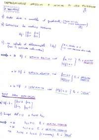 Ricerca di massimi e minimi di una funzione - 2 e 3 variabili