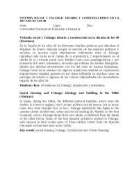 vivienda social y falange