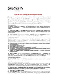 Contrato de cesión de derechos de autor