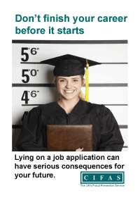Don't finish your career before it starts - Lying on a Job application consequences - CIFAS fraud prevention agency