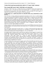 L'efficacia dei trattati internazionali alla luce dell'art. 117, c. 1 della Costituzione