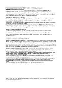 Riassunto manuale Conforti. Diritto Internazionale