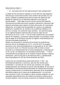 DERECHO INTERNACIONAL PRIVADO - Preguntas y respuestas - Tema 5