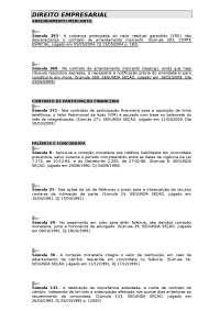 Súmulas STJ - Direito Empresarial