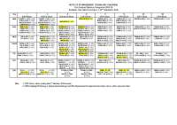 Academic Time Table  - T - VI