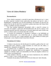 Curso completo de leitura dinâmica, Notas de estudo de Linguística