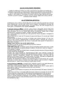 LETTERATURA ARTISTICA - schlosser, bologna, kultermann e appunti