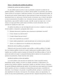 Políticas Públicas. Tema 1: Introducción al análisis de políticas públicas