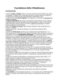 Riassunto Il problema della cittadinanza - Daniele Porena
