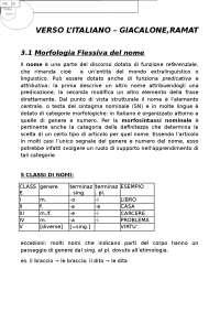 Lingua italiana per stranieri, I parte: morfologia del nome e del verbo, e Sintassi