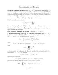Método de Interpolación de Hermite