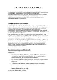 LA ADMINISTRACIÓN PÚBLICA - Derecho administrativo