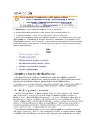 nivelacion