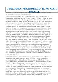 Riassunto di italiano su Pirandello