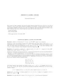 Esercizi Svolti Geometria Lineare