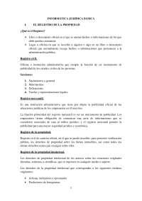 Apuntes Informática Jurídica Básica Registro de la Propiedad