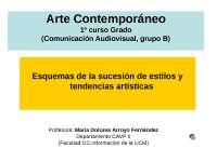 DIAPOSITIVAS ARTE CONTEMPORÁNEO