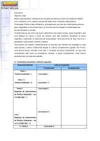 Participaçao Politica e Meio Ambiente Unidade I -R-, Notas de estudo de Ciência Política