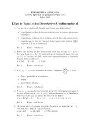 Estadistica exàmens tests