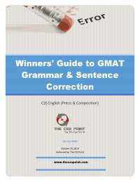 Winners' guide to gmat grammar & sentence correction