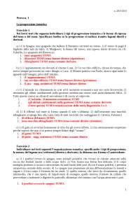 Prova 1 - Analisi Tematica - Svolgimento - Tecniche Espressive dell'Italiano