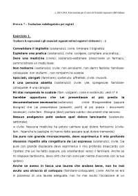 Prova 7 - Registri - Svolgimento - Tecniche Espressive dell'Italiano - Gilardoni