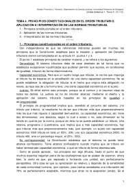 Tema 4. principios constitucionales en el orden tributario. aplicación e interpretación de las normas jcas.