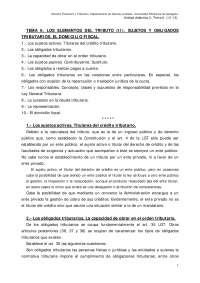 Tema 6. los elementos del tributo (ii). sujetos y obligados tributarios. el domicilio fiscal.